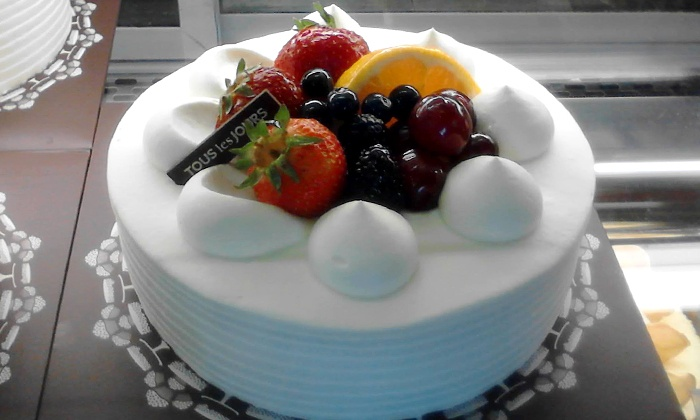"Tous les Jours Bakery & Cafe - Santa Clara: One 12"" Fresh Cream Cake, or Two $10 Groupons Worth of Bakery Goodies Per Visit at Tous les Jours Cafe (40% Off)"