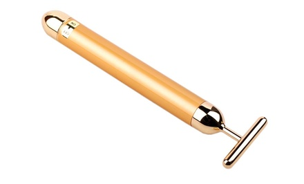 24-Karat Gold Beauty Bar Facial Massager by Pearle