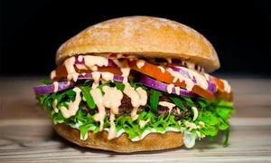 Burger House: Bio-Rindfleisch-, Veggie- oder Vegan-Burger mit Beilagen und Dips für 2 bis 6 Pers. im Burger House (bis zu 43% sparen*)