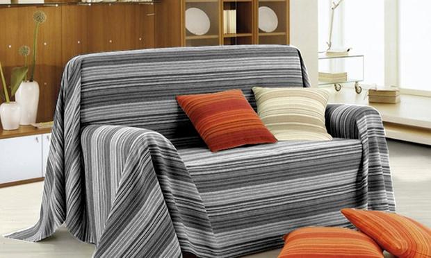 Telo arredo per letto o divano groupon goods - Gran foulard divano ...