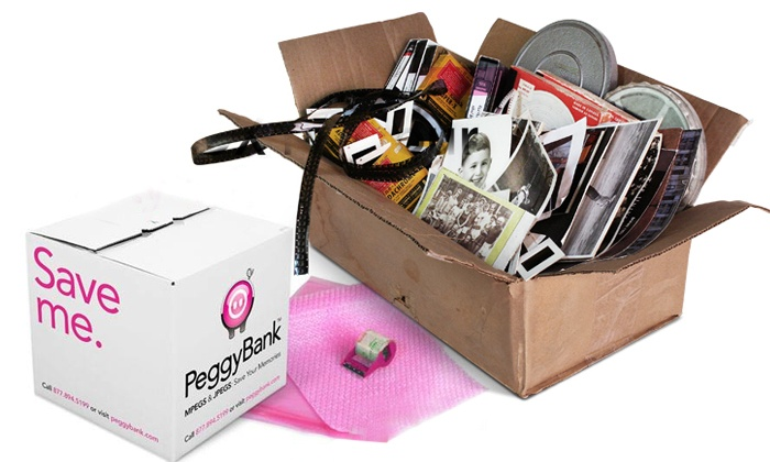 PeggyBank: $29 for $200 Worth of Video and Image Digitization Services and PeggyBox from PeggyBank