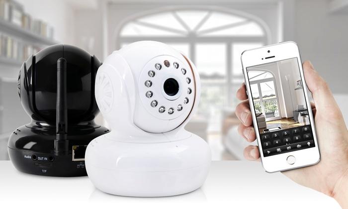 jusqu 39 72 smart cam ra d 39 int rieur hd wifi groupon. Black Bedroom Furniture Sets. Home Design Ideas