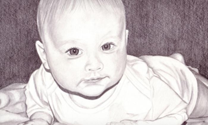 "LeadHead - Central Raleigh: $99 for an 8""x10"" Hand-Drawn Pencil Portrait from LeadHead ($250 Value)"