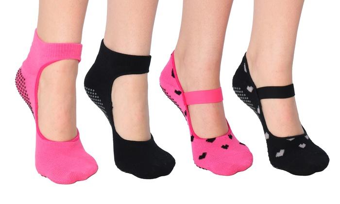 Women's Mary Jane Yoga Socks with Grips