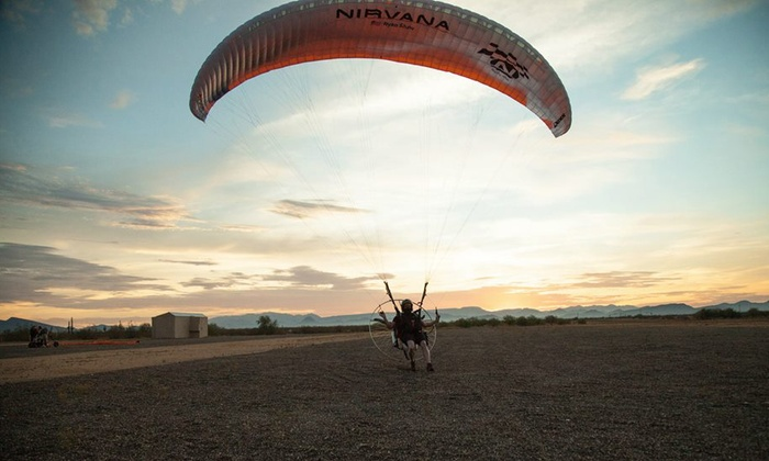 Paradrenalin - Peoria: Tandem Paragliding Instructional Flight for One or Two from Paradrenalin (Up to 49% Off)