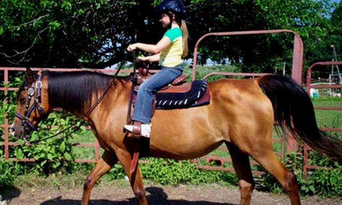 Labzara Ranch - Broken Arrow: Two, Three, or Four Kids' Horseback Rides or Two Adult Horseback Rides at Labzara Ranch (Half Off)