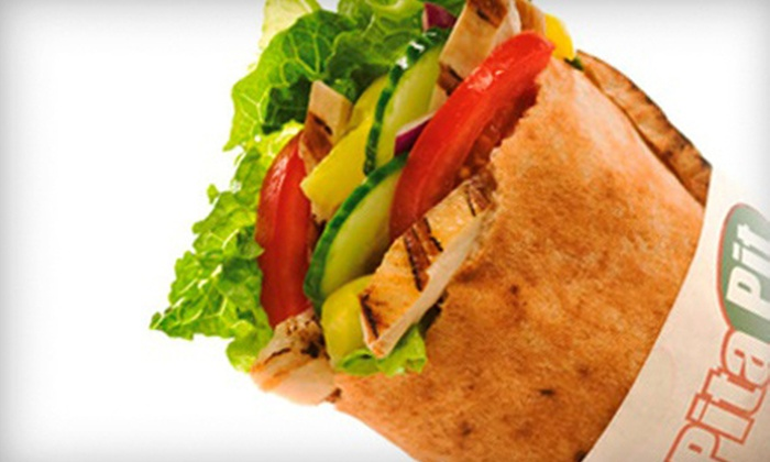 The Pita Pit - Multiple Locations: $6 for $12 Worth of Make-Your-Own Pitas at The Pita Pit