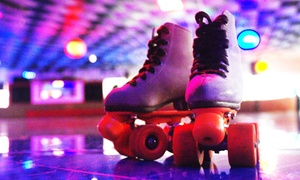 Skatin' Place: Roller Skating Package with Soda and Pizza for Two or Four at Skatin' Place (Up to 52% Off)