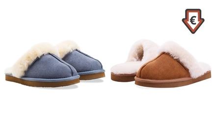 ea9074ff1a979 Chaussons fourrées en peau de mouton Redfoot, plusieurs coloris disponibles  à 34,90 euros