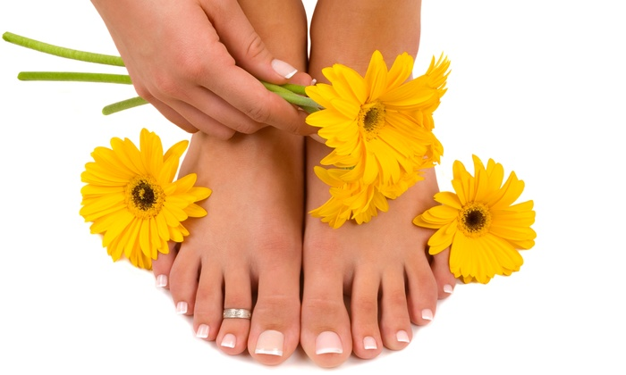 Sajonia D'light Spa - Arlington: One or Two Gel Mani-Pedis at Sajonia D'light Spa (Up to 56% Off)