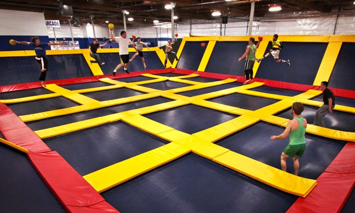 Sky High Sports - Multiple Locations: Two Hours of Jump Time or Jump Party for Up to 30 at Sky High Sports (Up to 53% Off). Two Locations Available.