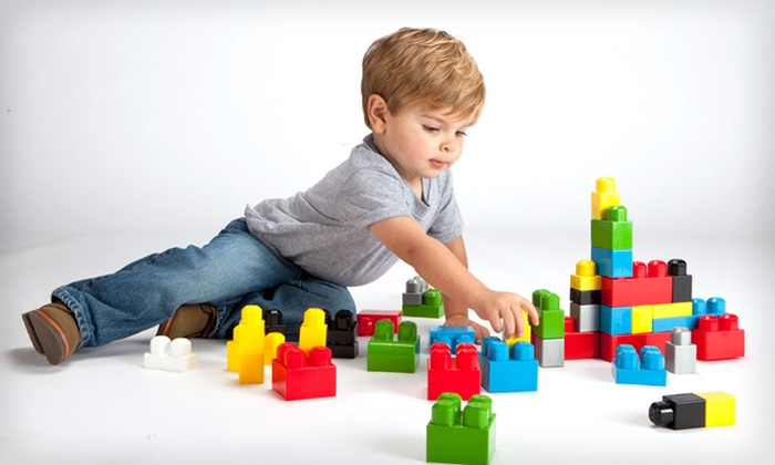 150-Piece Plastic-Block Set with Tote: $12.99 for an Amloid 150-Piece Plastic-Block Set with Vinyl Tote Bag ($39.99 List Price)