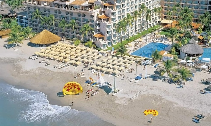 Adults-Only All-Inclusive Crown Paradise Golden Resort Vacation with Airfare - Puerto Vallarta: 5-Night All-inclusive at Crown Paradise Golden Resort w/ Airfare from Vacation Express; Price/Person Based on Dbl Occ.