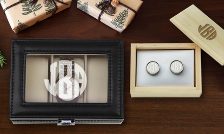 Custom cuff links or watch case monogram online groupon for 120 salon syracuse