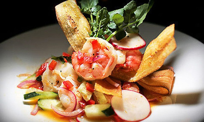Masona Grill - West Roxbury Center: Three-Course New American Dinner for Two or Four at Masona Grill (Up to 56% Off)