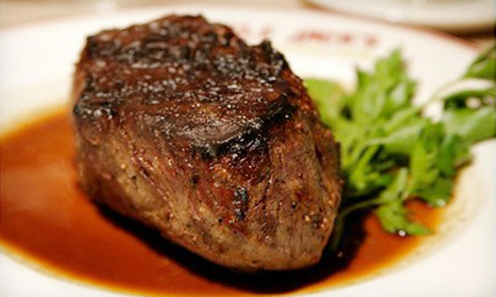 Uncle Jack's Steakhouse - Multiple Locations: $99 for Dinner for Two at Uncle Jack's Steakhouse (Up to $257 Value)