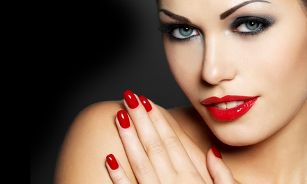 Organic Gel Manicure or Organic Haircut with Deep-Conditioning Treatment at Apple of Eden Salon (Up to 51% Off)