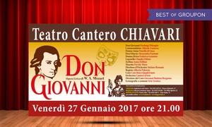 Don Giovanni al Teatro Cantero di Chiavari: Don Giovanni il 27 gennaio al Teatro Cantero di Chiavari (sconto fino a 41%)