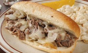 Steak Thyme Cheesesteak & More: $14 for $20 Worth of Cheesesteaks, Burgers, Gyros, and More at Steak Thyme