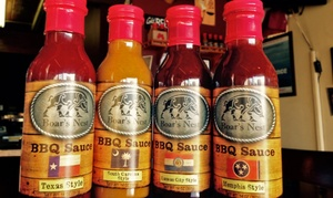The Boar's Nest: One of Four Styles of Regional Barbecue Sauce, or All Four Barbecue Sauces at The Boar's Nest (Up to 38% Off)