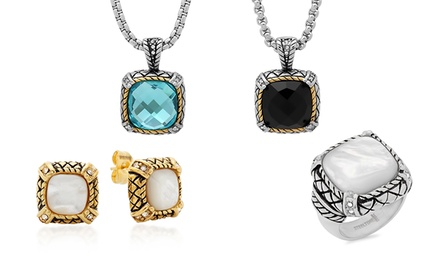 Women's Stainless Steel Fashion Rings, Earrings, and Necklaces