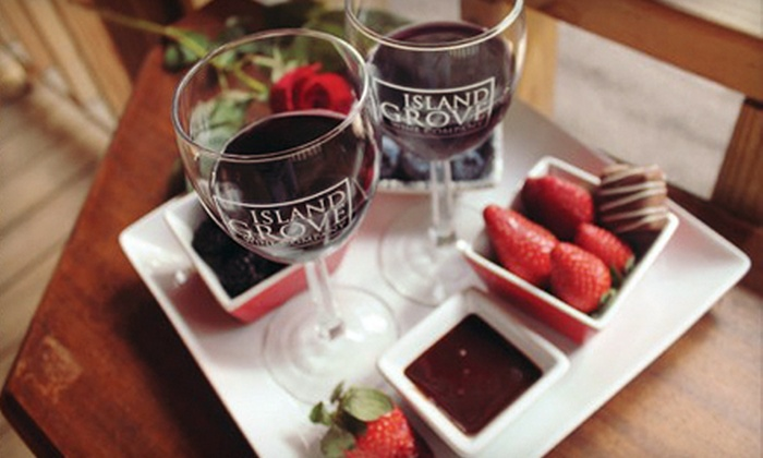 Island Grove Wine Company - Ocala/Gainesville: Complimentary Wine Tasting for Two or Four One Take-Home Bottle Per Person at Island Grove Wine Company (Half Off)