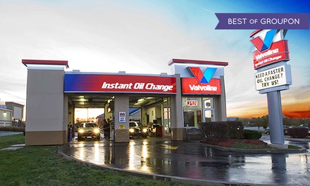 Conventional, Synthetic Blend, or Full Synthetic Oil Change at Valvoline Instant Oil Change (Up to $78.99 Value).