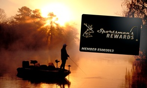 Sportsman's Rewards: Membership Card, Valid for Discounts at 1,300+ Hunting & Fishing Lodges, Charters & Outfitters (Up to 58% Off)