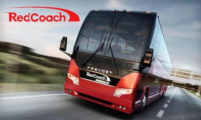 RedCoach, Inc. - Multiple Locations: Round-Trip Transportation by Coach Bus Between Miami and Orlando or Miami and Tampa from RedCoach, Inc. (Half Off)
