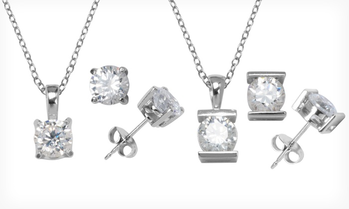 Cubic-Zirconia Jewelry: $9.99 for Cubic-Zirconia Jewelry (Up to $45 List Price). 4 Styles Available.