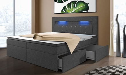 boxspringbett mit led beleuchtung groupon goods. Black Bedroom Furniture Sets. Home Design Ideas