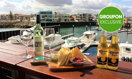 Dip Plate with Bottle of Wine or Corona Beer for Two ($19) or Four People ($38) at Marina Sunset Bar (Up to $102 Value)