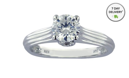 1.00 ct.tw. Certified Diamond Ring in 14K Gold. Free Returns.