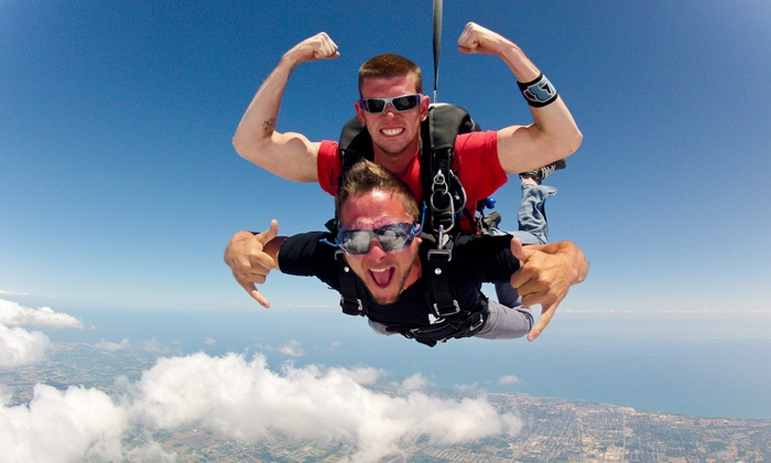 Skydive Midwest - Sturtevant: $135 for Skydiving Experience and High-Five with One Groupon Employee ($458 Value)