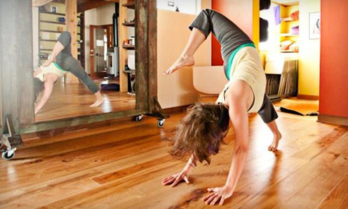 OmBase - SW Portland,Southwest Hills: 10 or 15 Yoga Classes at OmBase (56% Off)