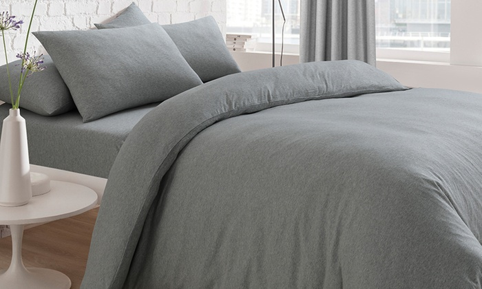 Pieridae Cosy Jersey Duvet Set, Fitted Sheet or Pillowcases from £8