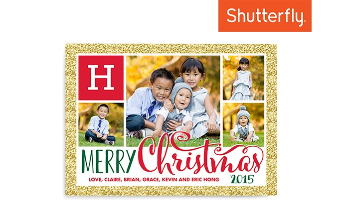 Shutterfly: 40 5x7 Square Trim, Signature Cardstock Flat Cards from Shutterfly (50% off)