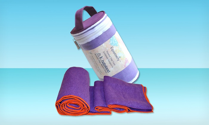 Yoga Towel with Travel Case in Purple: Yoga Towel with Travel Case in Purple. Free Shipping.