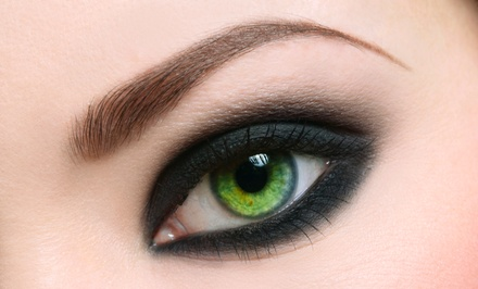 Permanent Misted or Shaded Eyebrows, or Eyeliner for the Upper or Lower Lids or Both at thINK Pure (Up to 69% Off)
