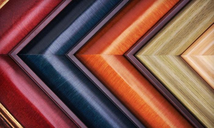 Optiks Print Studio & Custom Framing - Downtown: Framing, Canvas Printing, and Scanning at Optiks Print Studio & Custom Framing (Up to 55% Off). Two Options Available.