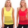 2-Pack of Women's Missy Seamless, Cut-Out Mesh Tank Tops