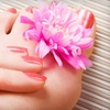 Up to 55% Off Spa or Shellac Mani-Pedi and Wine