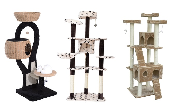 Groupon Goods: PawHut Multi-Level and Multi-Shelter Cat Tree from $79.99 to $169.99 (Shipping Included)