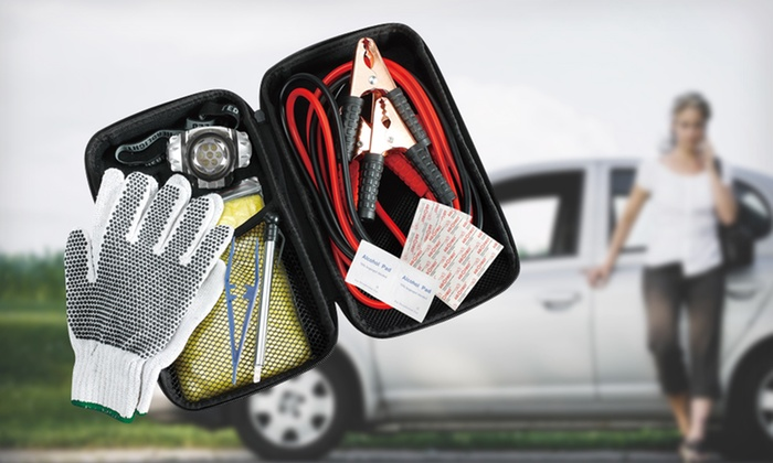 Think Tank Technology Roadside Kit: $12.99 for a Think Tank Technology Emergency Roadside Kit ($24.99 List Price). Free Returns.