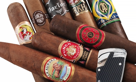 7-Pack Cigar Sampler with Cutter or 8-Pack Cigar Sampler with Lighter from Famous Smoke Shop for $19.99 or $44.99