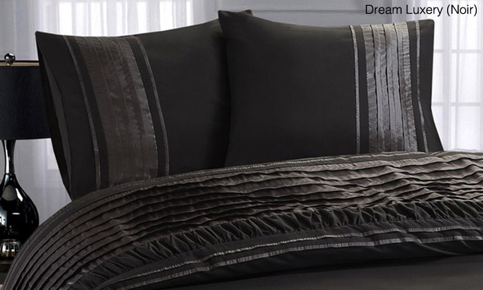 parure de lit en satin groupon shopping. Black Bedroom Furniture Sets. Home Design Ideas