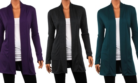 Women's Draped Cardigan