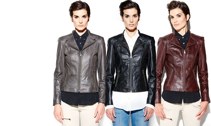 Marc New York Women's Leather Jackets: $349 for a Marc New York Women's Lola Leather Moto Jacket ($569 List Price). Multiple Colors. Free Shipping and Returns.