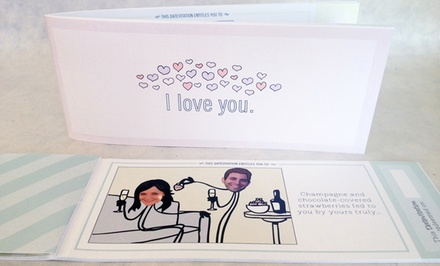 Personalized Love Coupon Book from Datevitation
