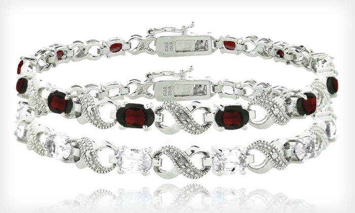 Infinity Gemstone Bracelets: Infinity Gemstone Bracelets (Up to 69% Off). Five Options Available. Free Shipping and Free Returns.